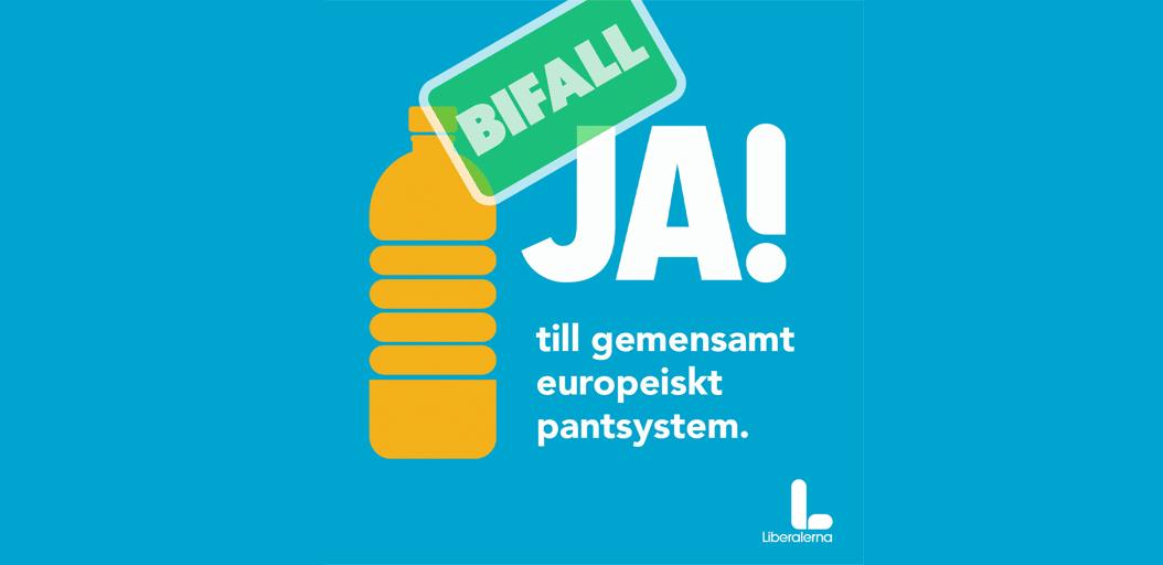 Karlsbro (L): Europaparlamentet stöder Liberalernas krav på pantsystem i EU
